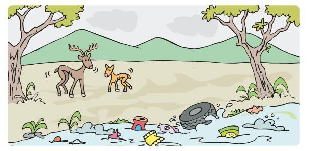 Resultado de imagen para imagen de contaminacion del agua animados